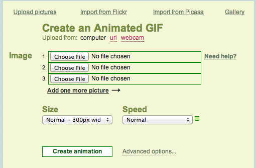 Animated GIF tools - Picasion
