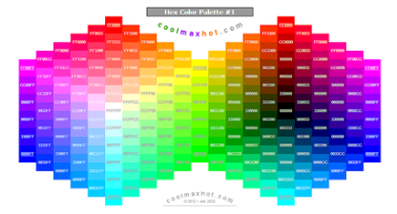 Social Media Hex Color Codes