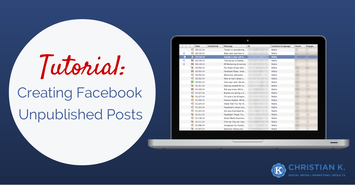 How to create a Facebook unpublished post or dark post in Facebook Power Editor