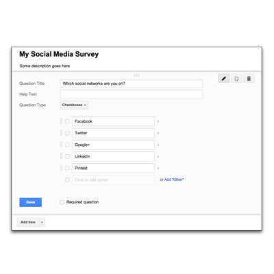How to create a survey using Google Forms [video]