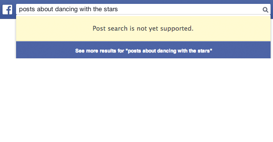 Searching posts and status updates with Facebook Graph Search